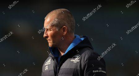Stock Image of Exeter Chiefs vs Leinster. Leinster's senior coach Stuart Lancaster
