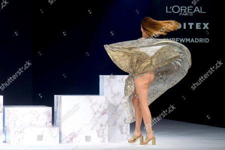 Cristina Piaget on the catwalk