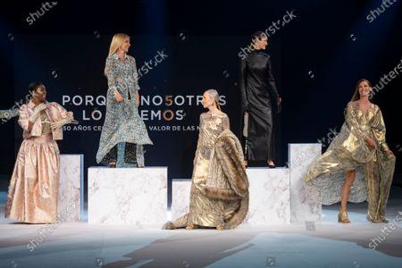 Stock Photo of Francine Galves, Cayetana Guillen Cuervo,Yelimar, Pino Montesdeco, Cristina Piaget on the catwalk