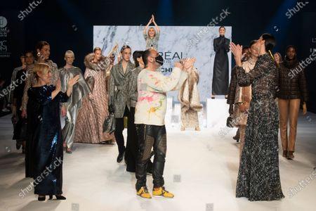 Editorial image of Angel Schlesser show, Runway, Fall Winter 2022, Mercedes Benz Fashion Week, Madrid, Spain - 10 Apr 2021