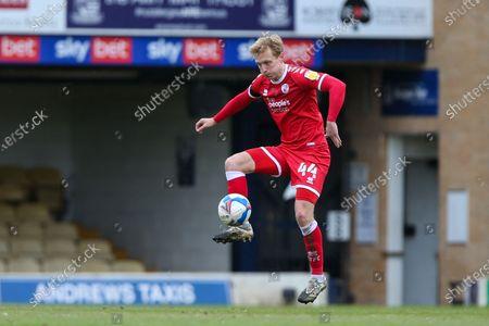Josh Wright of Crawley Town controls the ball