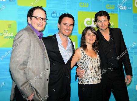 Stock Picture of Austin Basis, Kerr Smith, Shiri Appleby and Kristoffer Polaha