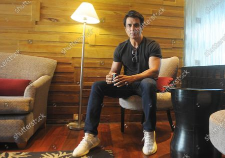 Bollywood actor Sonu Sood during a media interaction, at Taj Chandigarh hotel at Sector 17, on April 10, 2021 in Chandigarh, India.
