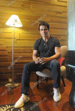 Editorial image of Bollywood Actor Sonu Sood Interacts With Media At Taj Chandigarh Hotel, Punjab, India - 10 Apr 2021