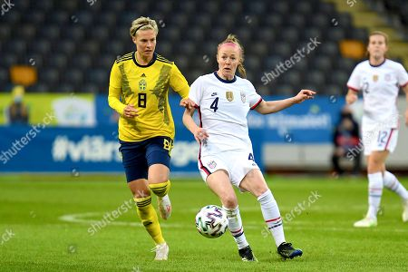 Stock Picture of Lina Hurtig (#8 Sweden) and Becky Sauerbrunn(#4 USA)