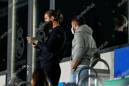 Sergio Ramos and Daniel Carvajal of Real Madrid