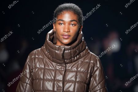 Editorial photo of Angel Schlesser show, Runway, Fall Winter 2022, Mercedes Benz Fashion Week, Madrid, Spain - 10 Apr 2021
