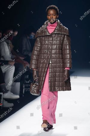 Editorial image of Angel Schlesser show, Runway, Fall Winter 2022, Mercedes Benz Fashion Week, Madrid, Spain - 10 Apr 2021