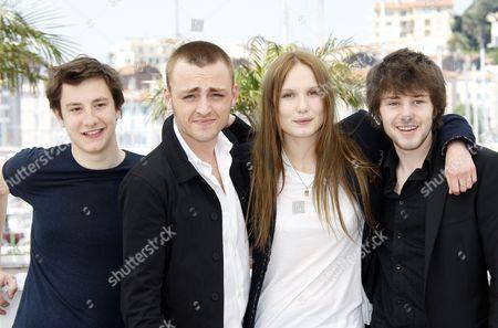 Arthur Mazet, Jules Pelissier, Ana Girardot and Laurent Delbecque