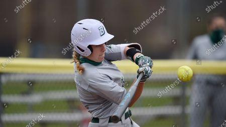 Binghamton's Hannah Lyons during an NCAA softball game, in Baltimore, Md
