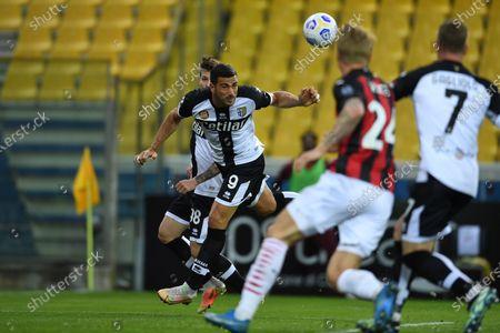 "Graziano Pelle (Parma)           during the Italian ""Serie A"" match between Parma 1-3 Milan at  Ennio Tardini Stadium in Parma, Italy."