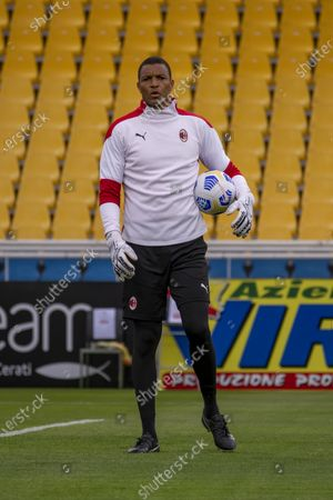 """Stock Photo of Nelson Dida Goalkeeper Trainer (Milan)          during the Italian """"Serie A"""" match between Parma 1-3 Milan at  Ennio Tardini Stadium in Parma, Italy."""