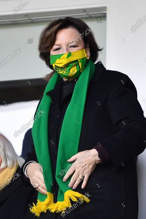 Delia Smith of Norwich City during the Sky Bet Championship match between Derby County and Norwich City at the Pride Park, Derby, England on 10th April 2021.