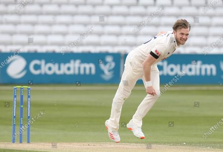Essex's Simon Cook  during   LV Insurance County Championship Group 1 Day 3 of Four between Essex CCC and Worcestershire CCC at The Cloudfm County Ground on 10th April , 2021 in Chelmsford, England