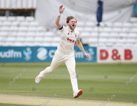 Stock Image of Essex's Simon Cook during   LV Insurance County Championship Group 1 Day 3 of Four between Essex CCC and Worcestershire CCC at The Cloudfm County Ground on 10th April , 2021 in Chelmsford, England