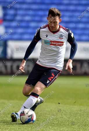Gethin Jones of Bolton Wanderers during the Sky Bet League 2 match between Bolton Wanderers and Harrogate Town at the Reebok Stadium, Bolton, England on 10th April 2021.