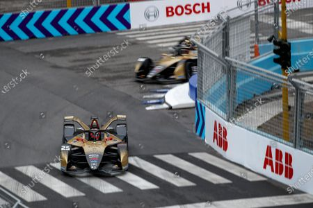 Jean-Eric Vergne (FRA), DS Techeetah, DS E-Tense FE21, leads Antonio Felix da Costa (PRT), DS Techeetah, DS E-Tense FE21 during the 2021 Formula E Round 4 - Rome E-Prix