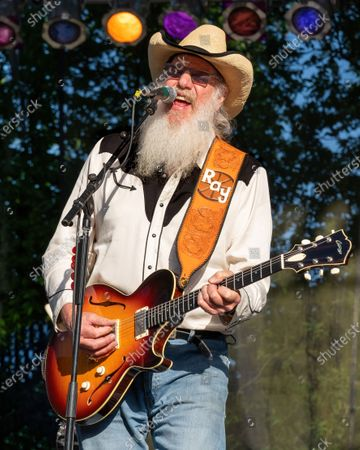 Ray Benson of Asleep at the Wheel performs at the Nutty Brown Amphitheater on April 10, 2021 in Austin, Texas.