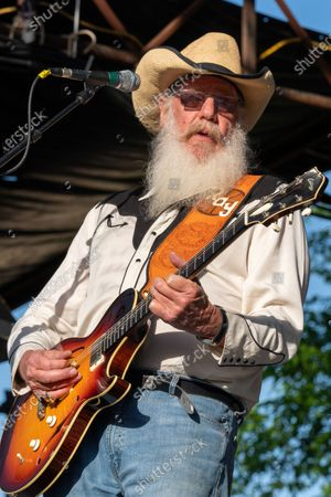 Stock Picture of Ray Benson of Asleep at the Wheel performs at the Nutty Brown Amphitheater on April 10, 2021 in Austin, Texas.