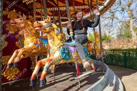 Holly Simms  testing out the Carousel at Wicksteed Park in Kettering this week in preparation for the reopening this Monday after more lockdown restrictions are eased.Staff have been testing the popular Sway Rider swings at Wicksteed Park in Kettering as they get ready to re-open to visitors next week.They are busy cleaning up the park ready for Monday (April 12) when the park can re-open as coronavirus restrictions are eased.The 30-foot-high Sway Rider is a popular choice with families and swings people through the air at 30mph. It undulates up and down as the seats are tilted at 45 degrees to give an extra adrenaline rush.Wicksteed Park is the oldest theme park on the UK mainland and celebrates its centenary this year.It was created by Charles Wicksteed, who wanted to make a park, which would encourage families to enjoy a healthy and active lifestyle.
