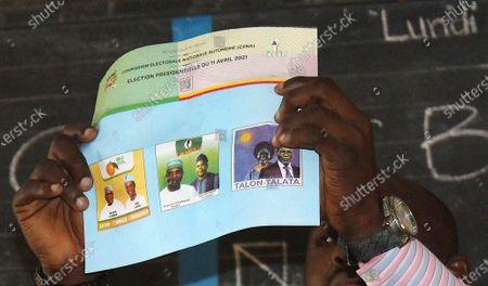 Editorial photo of Presidential elections, Cotonou, Benin - 11 Apr 2021