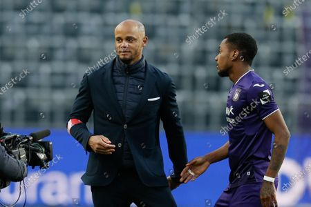 Anderlecht's head coach Vincent Kompany pictured after a soccer match between RSC Anderlecht and Club Brugge KV, Sunday 11 April 2021 in Brussels, on day 33 of the 'Jupiler Pro League' first division of the Belgian championship.