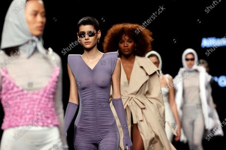 Editorial image of Georgiela Studio - Runway - Mercedes-Benz Fashion Week Madrid FW 21/22, Spain - 11 Apr 2021