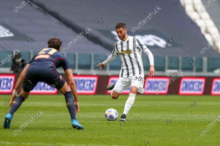 Rodrigo Bentancur of Juventus FC during the Serie A football match between Juventus FC and Genoa CFC at Allianz Stadium on April 11, 2021 in Turin, Italy.Juventus won 3-1 over Genoa.