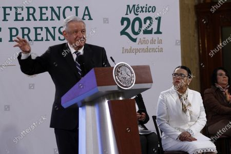 Editorial photo of Lopez Obrador Morning Press Conference, Mexico City, Mexico - 09 Apr 2021