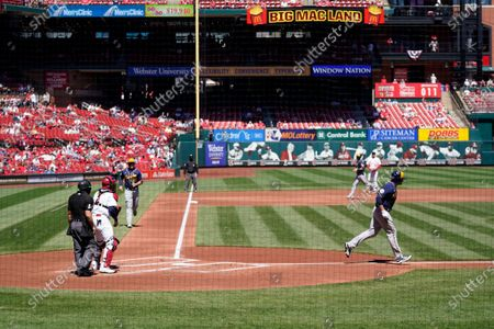 Editorial image of Brewers Cardinals Baseball, St. Louis, United States - 11 Apr 2021