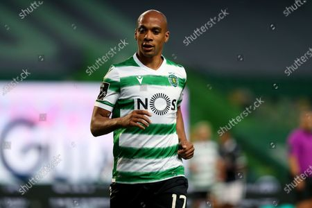Joao Mario of Sporting CP during the Portuguese League football match between Sporting CP and FC Famalicao at Jose Alvalade stadium in Lisbon, Portugal on April 11, 2021.
