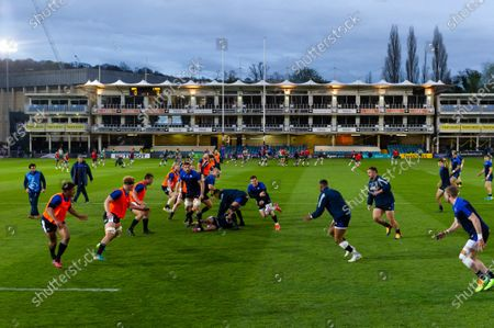 Ben Spencer of Bath Rugby in action during the pre-match warm-up