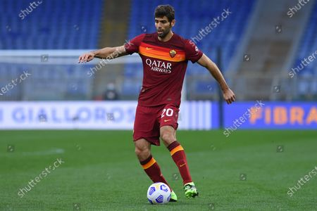 Federico Fazio of Roma during the Italian Serie A soccer match Roma vs Bologna in the Olympic stadium