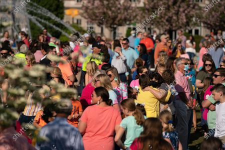 Editorial picture of South Carolina Shooting Vigil, Rock Hill, United States - 11 Apr 2021