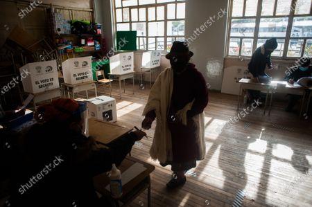 Editorial photo of General elections in Quito, Ecuador - 11 Apr 2021