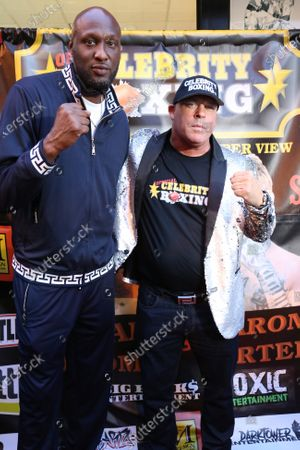 Lamar Odom at Celebrity Boxing press conference to promote the upcoming June 12, 2021 Showboat Hotel in Atlantic City Celebrity Boxing match