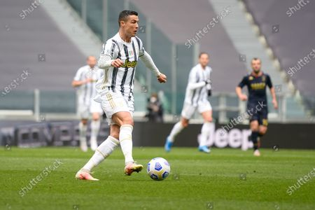 Editorial photo of Juventus vs Genoa - Serie A, Turin, Piedmont, Italy - 11 Apr 2021