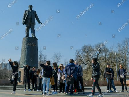 Visitors pose for a photo near the monument to Soviet rocket designer Sergei Pavlovich Korolev.The Cosmonautics Museum is one of the largest scientific and historical museums in the world. The history of the museum began in the second half of the 20th century, when in 1964 a monument to the Conquerors of Space appeared on the map of Moscow.The titanium rocket at VDNKh has become a symbol of a qualitative technological leap of its time. The launch of the first artificial Earth satellite, the first living beings and the first man in space became the starting point in world cosmonautics.On the 60th anniversary of the first manned flight into space, tourists came to visit the Museum of Cosmonautics to learn more about the first cosmonaut, the Soviet test pilot Yuri Gagarin.