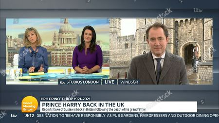 Editorial picture of 'Good Morning Britain' TV Show, London, UK - 12 Apr 2021
