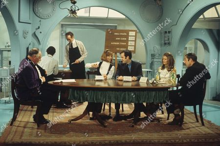 Jimmy Edwards, Sheila Steafel, John Cleese, Kathleen Tynan and Ted Moult