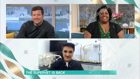 Stock Picture of Dermot O'Leary, Alison Hammond and Noel Fitzpatrick