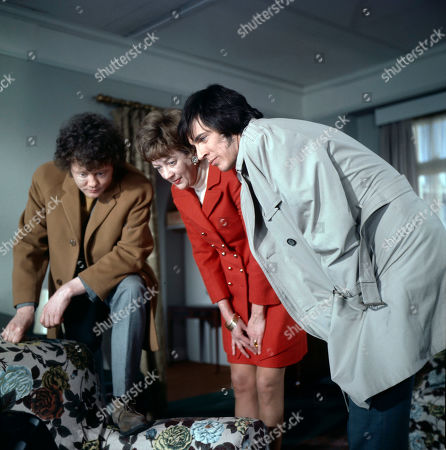 Mort Roden, as played by Dudley Sutton, Mrs. Roden, as played by Madge Ryan, and Mike Hales, as played by Norman Eshley