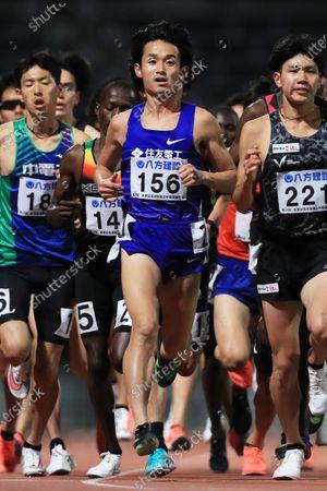 Koki Takada - Athletics : The 29th Kanaguri Memorial Distance Men's 5000m Final at Egao Kenko Stadium in Kumamoto, Japan.