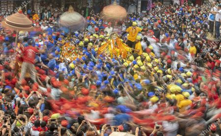 Editorial picture of Chariot festival in Kathmandu, Nepal - 12 Apr 2021