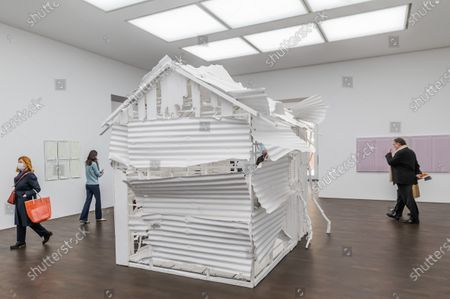 Stock Picture of Poltergeist, 2020 - Gagosian presents Internal Objects, an exhibition of new work by Rachel Whiteread at their Grosvenor Hill gallery. The exhibition opening is possible as the next stage of easing of coronavirus restrictions comes in to force, allowing non-essential retail to re-open.