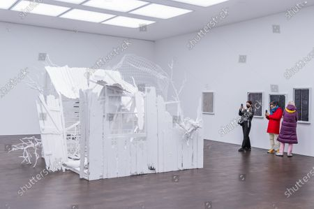 Stock Photo of Doppelgänger, 2020-2021 - Gagosian presents Internal Objects, an exhibition of new work by Rachel Whiteread at their Grosvenor Hill gallery. The exhibition opening is possible as the next stage of easing of coronavirus restrictions comes in to force, allowing non-essential retail to re-open.