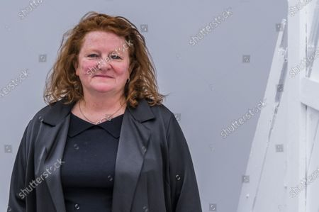 Stock Image of Rachel Whiteread with Doppelgänger, 2020-2021 - Gagosian presents Internal Objects, an exhibition of new work by Rachel Whiteread at their Grosvenor Hill gallery. The exhibition opening is possible as the next stage of easing of coronavirus restrictions comes in to force, allowing non-essential retail to re-open.