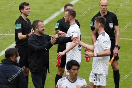 Champion, head coach Hans-Dieter Flick (FC Bayern Munich) beat Robin Knoche #31 (1. FC Union Berlin)