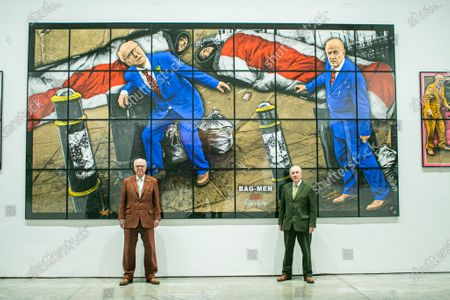 Editorial photo of Gilbert & George Solo Exhibition, New Normal Pictures, Park Lane, London, UK - 12 Apr 2021