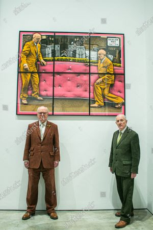 Editorial image of Gilbert & George Solo Exhibition, New Normal Pictures, Park Lane, London, UK - 12 Apr 2021